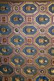 在公爵的故宫博物院的装饰的天花板在曼托瓦 免版税库存照片