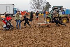 在兰开斯特县拍卖的泥泞的天 图库摄影