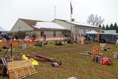 在兰开斯特县消防局的泥销售 库存图片