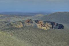 在兰萨罗特岛海岛上的风景风景在大西洋 库存图片