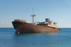 在兰萨罗特岛的海难 免版税图库摄影