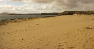 在兰萨罗特岛,加那利群岛群岛的Papagayo海滩 库存照片