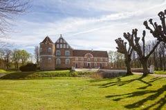 在兰讷斯,丹麦附近的Løvenholm城堡 库存照片