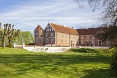 在兰讷斯,丹麦附近的Lovenholm城堡 免版税库存图片