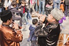 在共和国的首都的Novruz Bayram假日阿塞拜疆在市巴库 2017年3月23日 免版税图库摄影