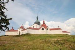 在共和国sazavou zdar zelena附近的捷克hora nad 免版税库存图片