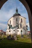 在共和国sazavou zdar zelena附近的捷克hora nad 库存图片