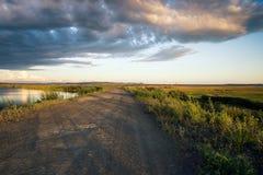 在共青城na Amure附近的湖Milki 免版税库存照片