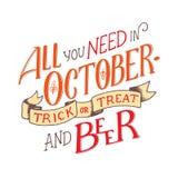 在关于10月的行情上写字 字法构成 免版税库存照片