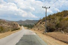 在关塔那摩省,古巴风景的看法  库存照片