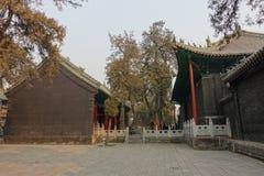 在关羽寺庙的传统建筑 免版税库存照片