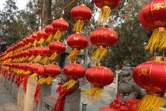 在关羽寺庙的传统建筑 图库摄影