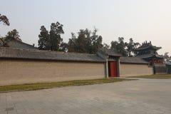 在关羽寺庙的传统建筑 免版税库存图片