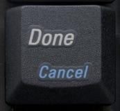 在关键董事会的执行的取消按钮 库存图片