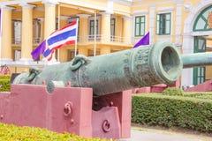 在兵部,曼谷,泰国的火炮 免版税图库摄影
