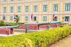 在兵部,曼谷,泰国的火炮 库存照片