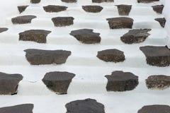 在典型的Canarian样式建立的石步 兰萨罗特岛 加那利群岛tenerife 免版税库存图片