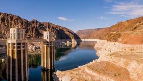 在内华达和亚利桑那的胡佛水坝 免版税库存照片