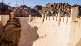 在内华达和亚利桑那的胡佛水坝 库存照片