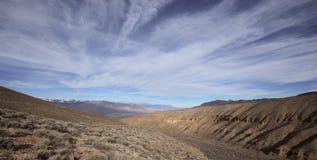 在内华达山山的全景 免版税库存照片