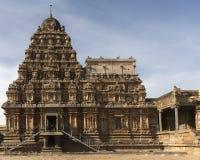 在内在密室顶部的南侧Vimanam 免版税库存照片