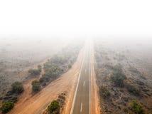 在内地澳大利亚人的农村高速公路 图库摄影