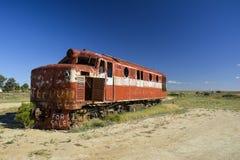 在内地澳大利亚人的老Ghan机车, Marree 免版税图库摄影