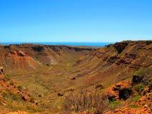 在内地澳大利亚人风景 免版税库存照片