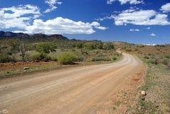在内地澳大利亚的路 库存照片