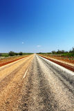 在内地澳大利亚路 免版税库存照片