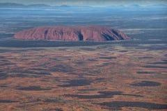 在内地空中澳大利亚 免版税库存图片