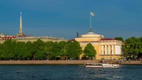 在内娃河和圣以撒的大教堂的看法 圣彼德堡 股票录像