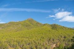 在内尔哈,西班牙附近的山风景 库存照片