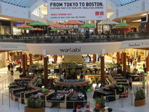 在内蒂克,马萨诸塞的内蒂克购物中心 图库摄影