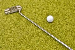 在内部微型里面的高尔夫球 库存照片