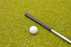 在内部微型里面的高尔夫球 图库摄影