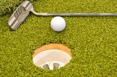 在内部微型里面的高尔夫球 库存图片