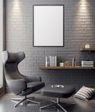 在内部的大模型海报,一个现代设计的3D例证 向量例证