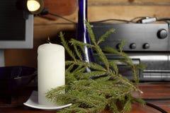 在内部的蜡烛 免版税库存图片
