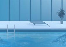 在内部里面的公开游泳池 也corel凹道例证向量 皇族释放例证
