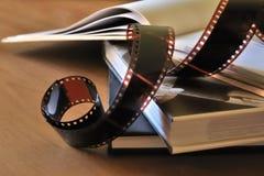 在册页的影片 免版税库存图片