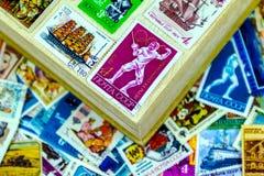 在册页的邮票苏联 免版税库存图片