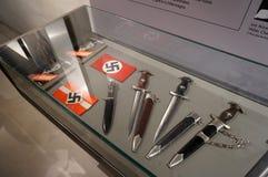 在军事博物馆的纳粹武器显示 免版税库存照片
