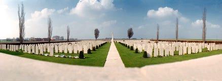在军事坟园的看法 图库摄影