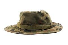 在军事样式的帽子 免版税库存照片