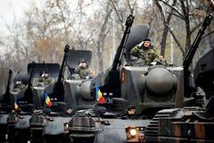 在军事游行的坦克 库存照片