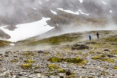 在军事的冰川的足迹 免版税图库摄影