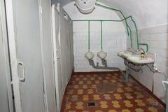 在军事苏联地堡的公共厕所。Korosten。乌克兰。 免版税库存照片