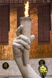 在军事荣耀历史纪念复合体的霍尔的永恒火焰 免版税图库摄影