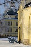 在军团de Guard Drottningholm的大炮 库存照片